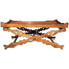 19th Century English Walnut Butler's Tray Coffee Table