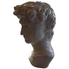 Artist Signed French Glazed Terra Cotta Bust