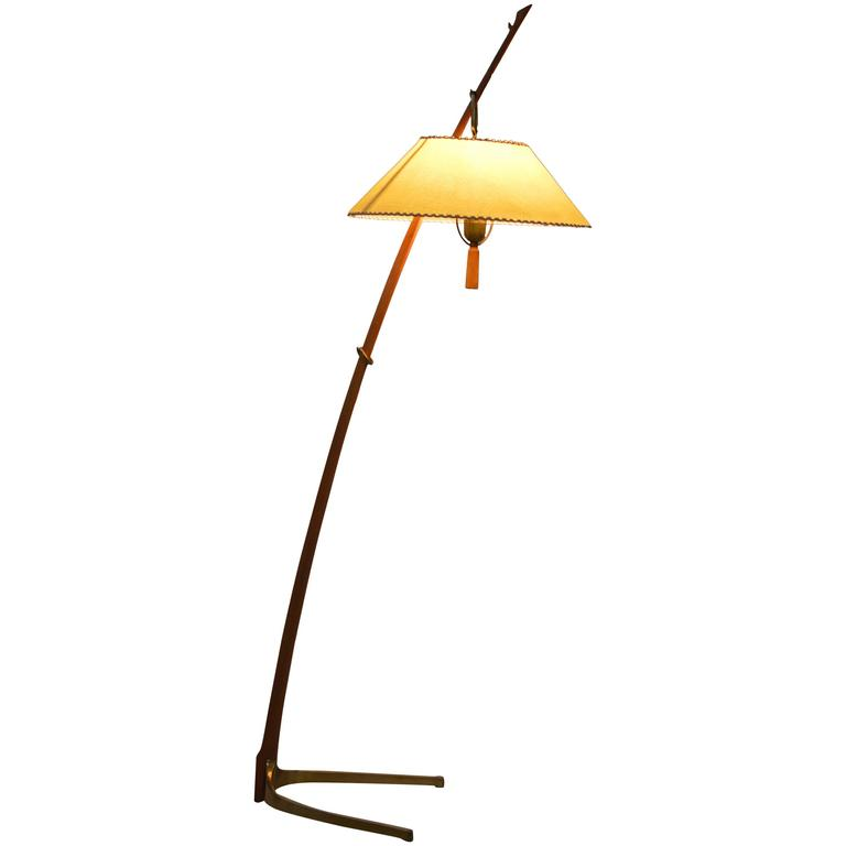 Earliest production, all original Dornstab Floor Lamp by Kalmar