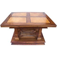 17th Century Inlaid French Draw Leaf Table