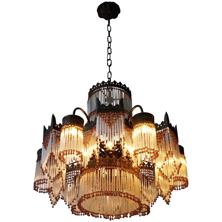 Italian Murano Glass Chandelier For Sale