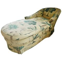 Upholstered Chaise Lounge, Mid-20th Century