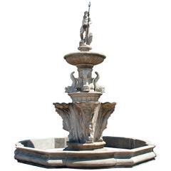 Early 19th Century Garden Fountain Neptune