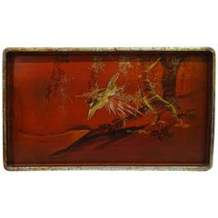 Early 20th Century Japanese Painted Tray