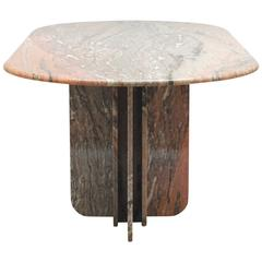 1979 Brazilian Marble Dining table by Georges Matthias