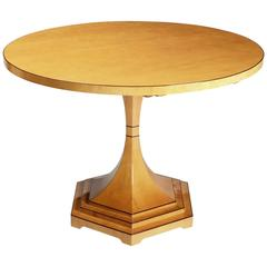 Biedermeier trumpet style pedestal table