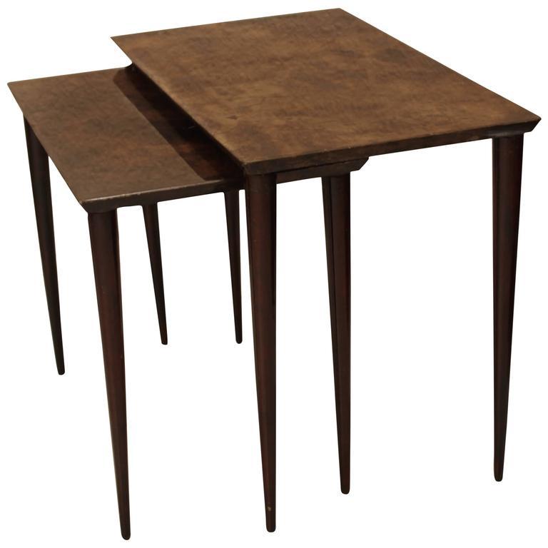 Aldo Tura Two Side Tables