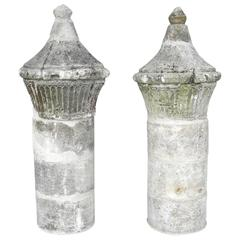 Pair of Antique French Columns from 18th Century France