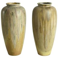 Pair of Stoneware Vases by Charles Greber