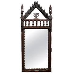 Folk Carved Frame with Original Mirror, Chicago, circa 1905