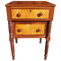 American Cherry and Birdseye Maple Stand, Circa 1815
