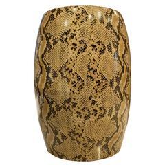 Ceramic Stool with Snakeskin Design