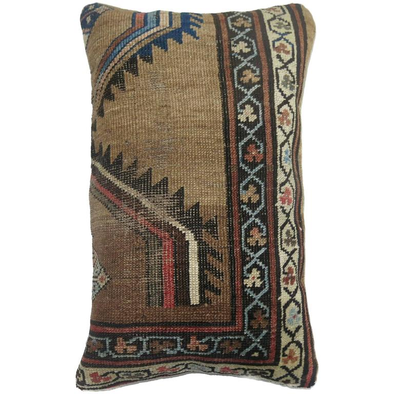 Antique Persian Camel Serab Pillow