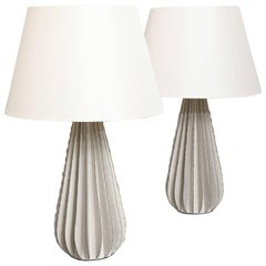 Bill Hudnut Pair of Ceramic Lamps