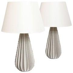 Bill Hudnut Pair of Ceramic Lamps