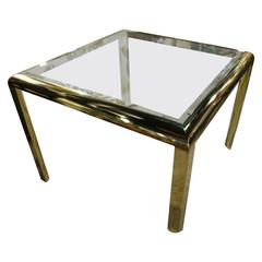 DIA Brass Dining Game Table Vintage Hollywood Regency Design Institute America