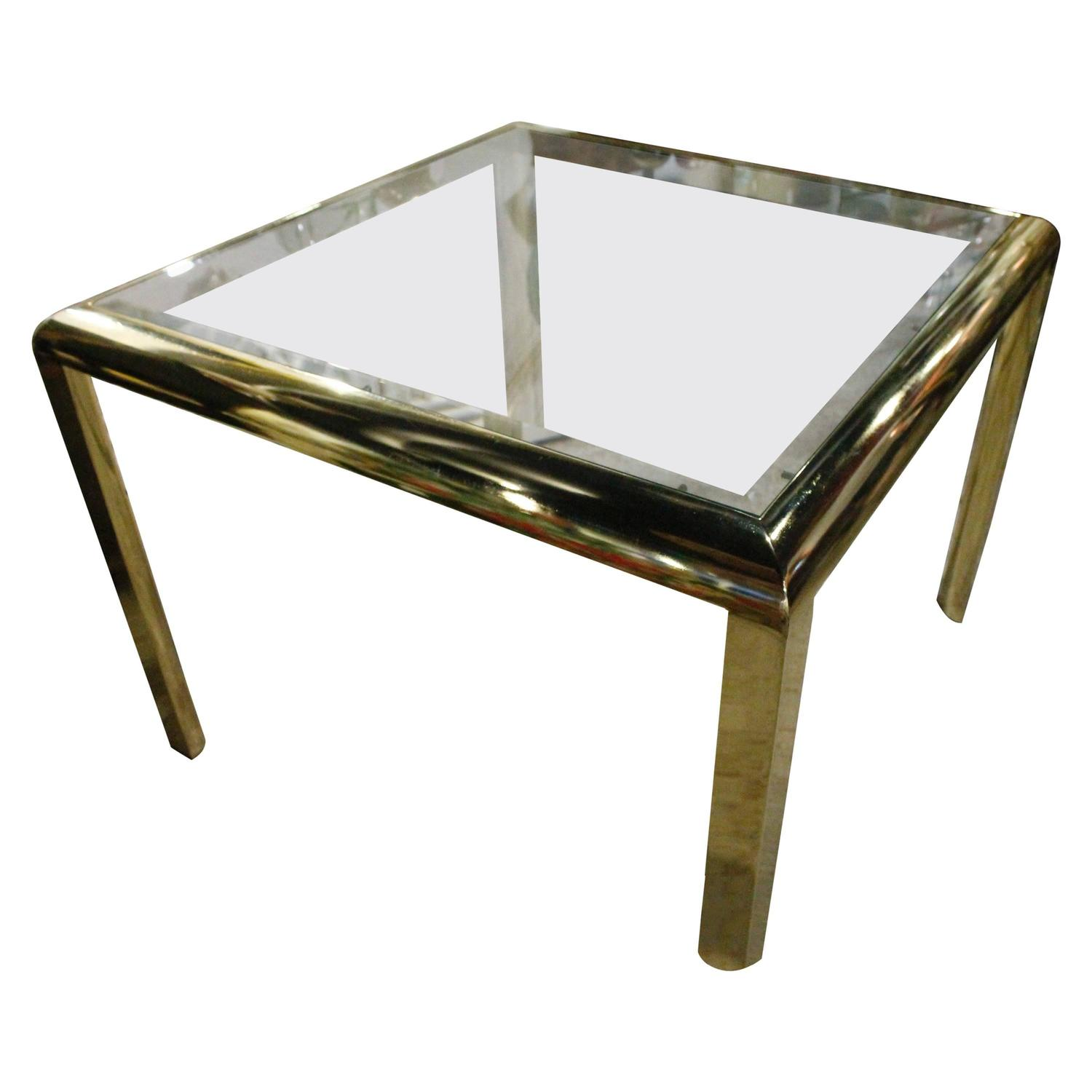DIA Brass Dining Game Table Vintage Hollywood Regency Design Institute