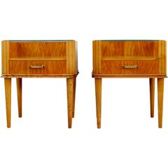 Pair of Swedish Art Moderne End Tables by Axel Larsson, circa 1940