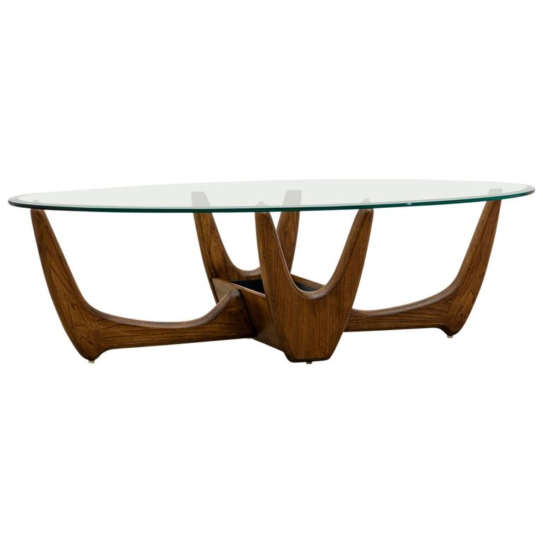Lane Pearsall Style Mid Century Modern Coffee Table: Mid-Century Sculptural Pearsall Style Coffee Table With