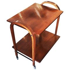 Mid-Century Bentwood Bar Cart Serving Trolley