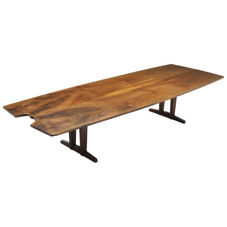 20th Century Minguren iv Walnut Table by George Nakjashima For Sale