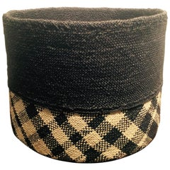 One of a Kind, Handwoven Iraca Basket from Nariño, Colombia