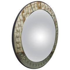 Vintage Piero Fornasetti Style Dome Front Bubbled Mirror