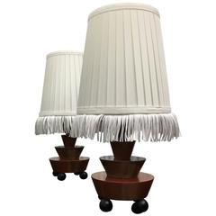 Pair of German Art Deco Table Lamps