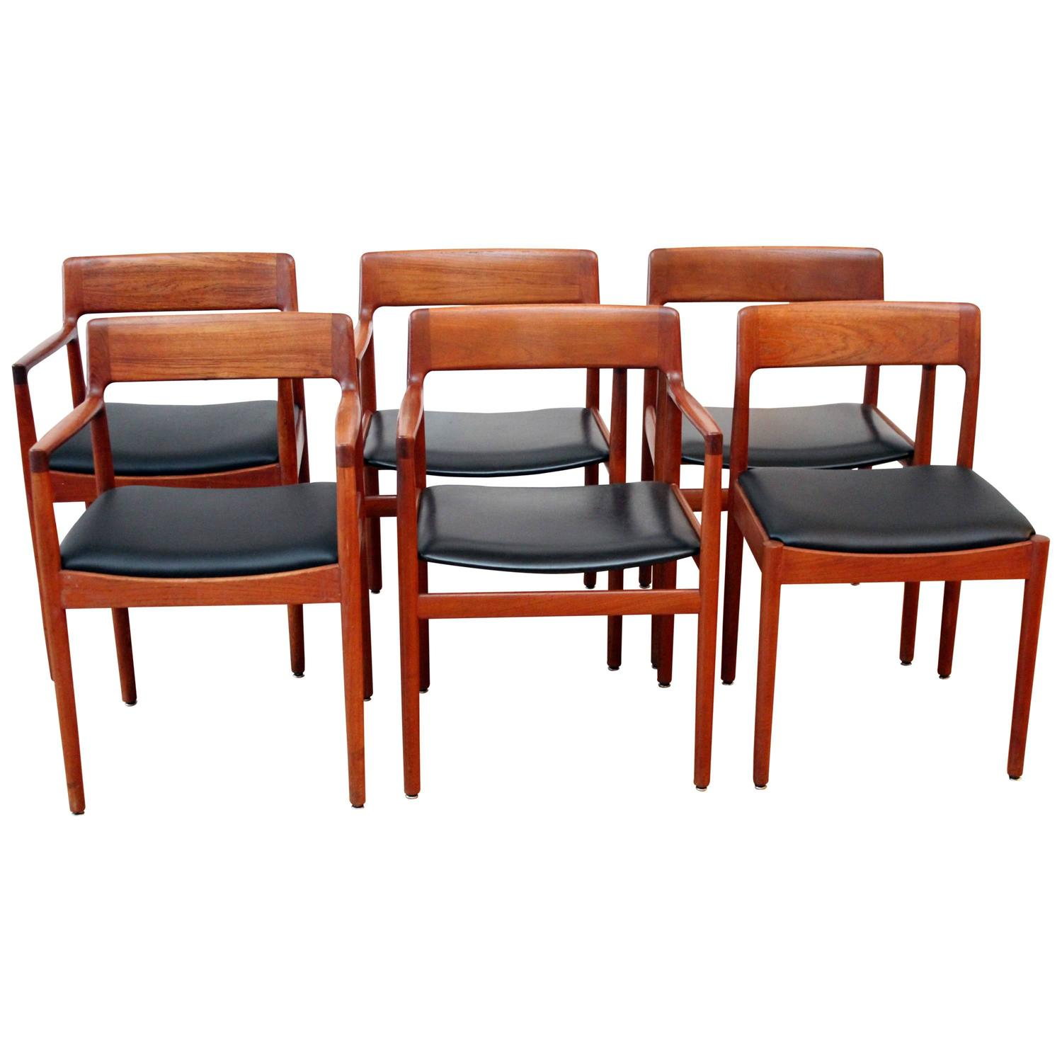 johannes norgaard danish teak dining chairs for sale at 1stdibs