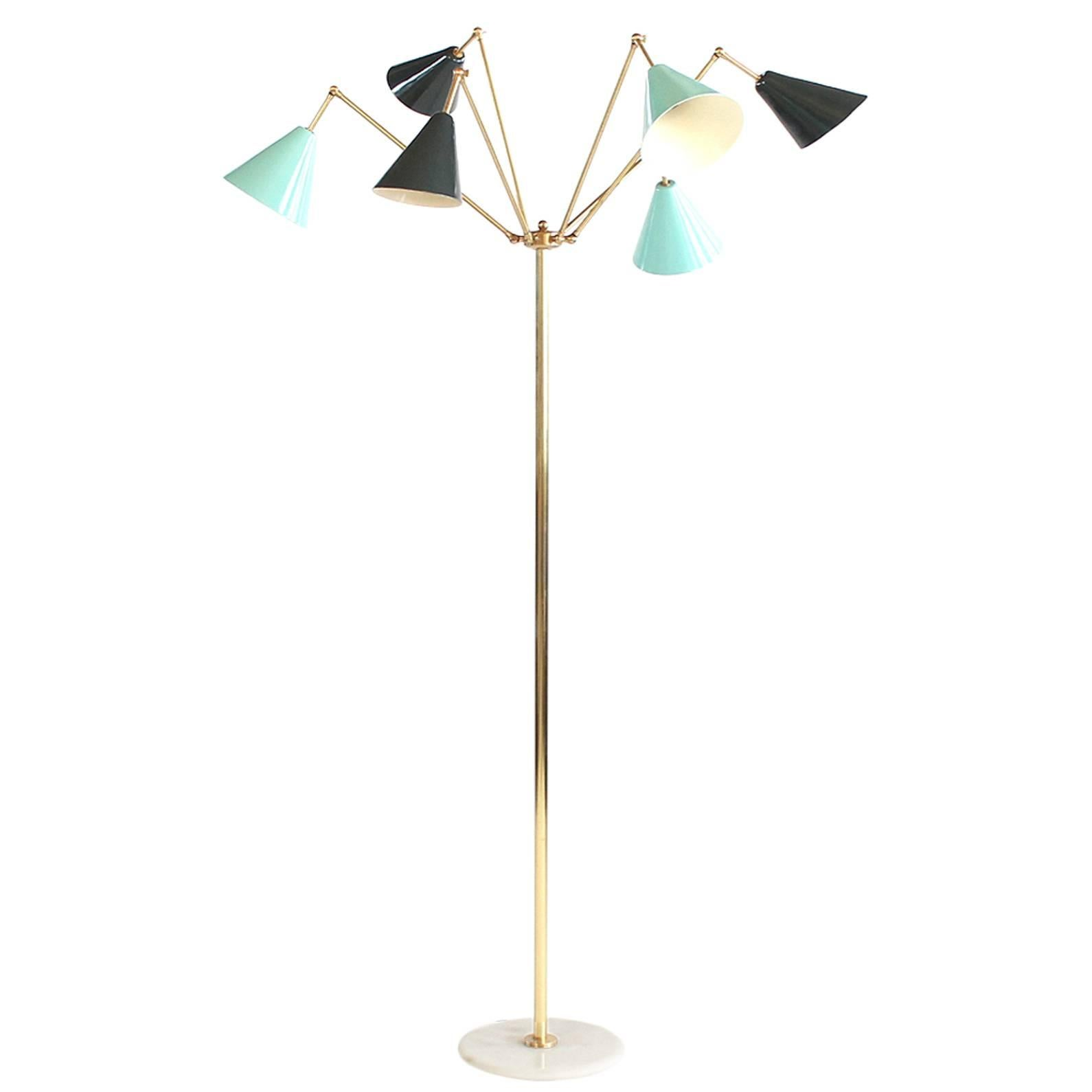 Attributed to Stilnovo 1960s Italian Floor Lamp