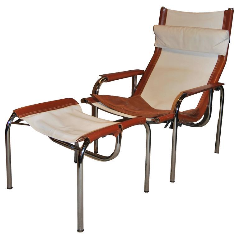 Hans Eichenberger Lounge Chair and Ottoman, Switzerland, 1960s