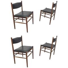 Set of Four Danish Modern Rosewood Safari Dining Chairs