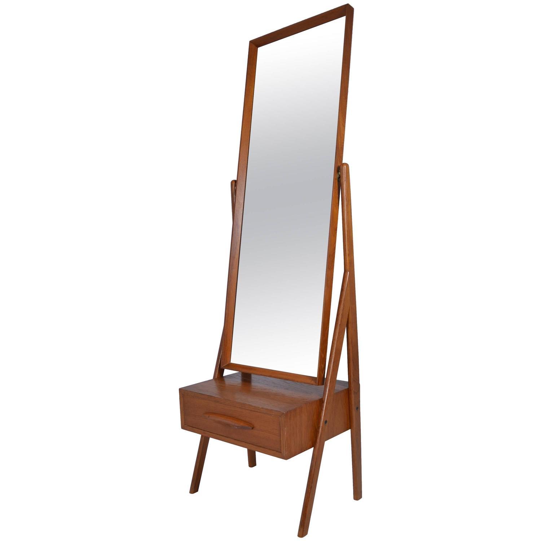 Danish Modern Cheval Mirror By Arne Vodder Circa 1960s
