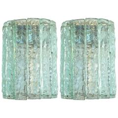 Pair of Max Ingrand for Fontana Arte Demilune Sconces