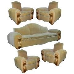 Very Large Art Deco Living Room Suite