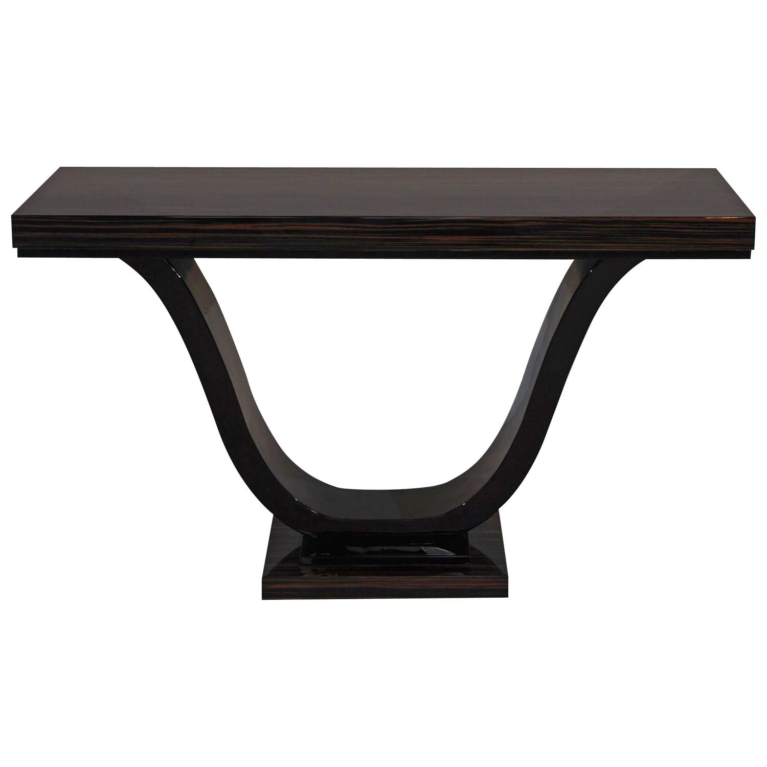 art deco macassar console at 1stdibs. Black Bedroom Furniture Sets. Home Design Ideas
