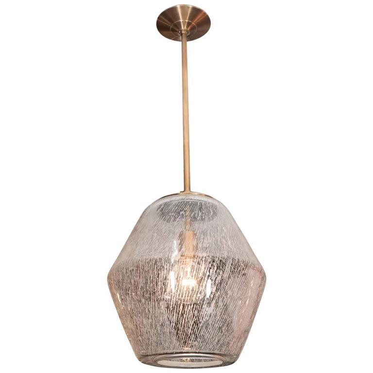 Etched Glass Globe Pendants