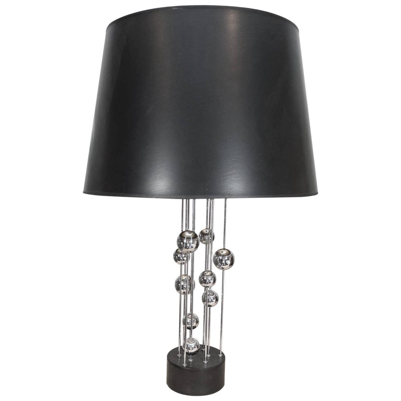 vintage chrome table lamp for sale at 1stdibs. Black Bedroom Furniture Sets. Home Design Ideas