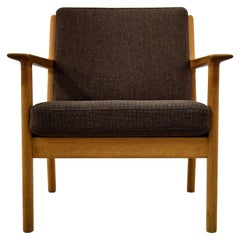 Hans Wegner Mid Century Modern Brown Lounge Chair