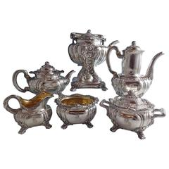 Chrysanthemum by Tiffany & Co. Sterling Silver Tea Set of Six Pieces