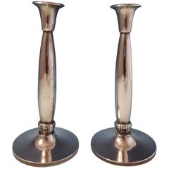 Classic American Reed & Barton Sterling Silver Candlestick Pair, 1950 Hollowware