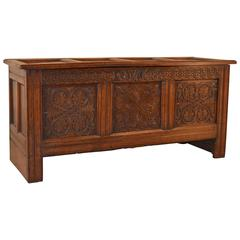 Early Oak Blanket Chest, Dated 1684