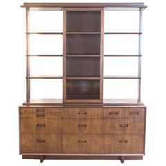 Frank Lloyd Wright for Henredon Credenza with Matching Hutch