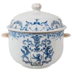 Antique Chinese Porcelain Armorial Jar Blue