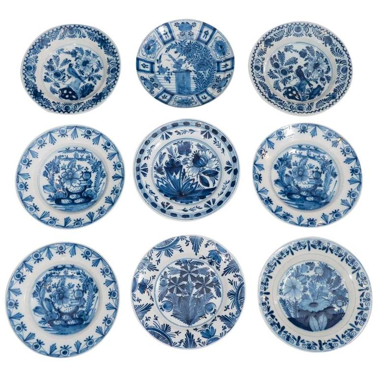 Part of Our Collection of Antique Blue and White Dutch Delft Dishes and Chargers For Sale  sc 1 st  1stDibs : delft dinnerware sets - pezcame.com