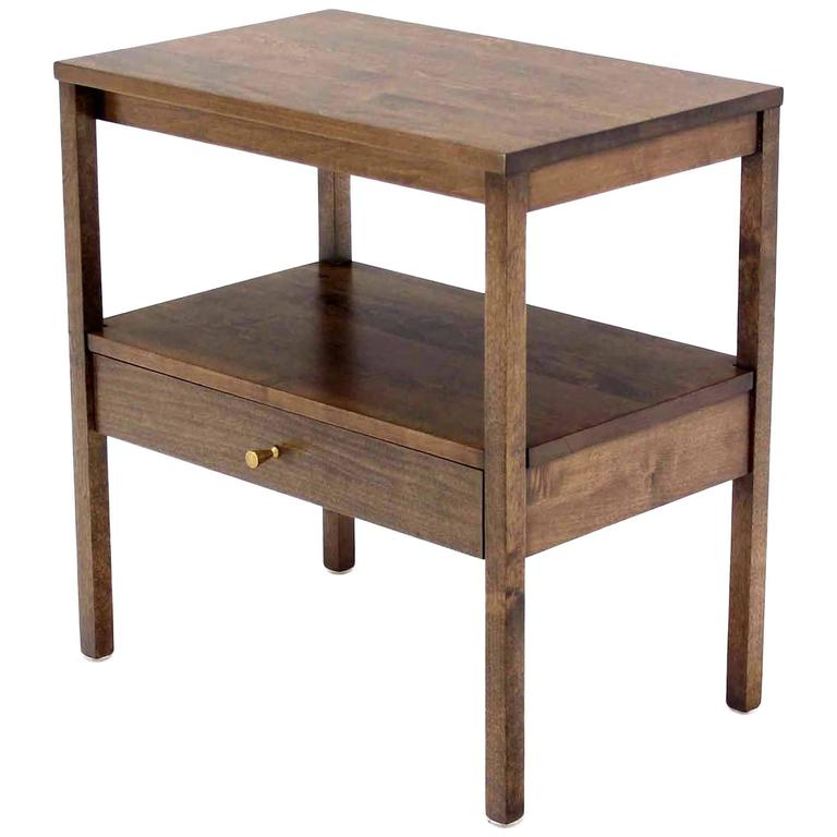 Mid Century Modern 1 One Drawer End Table Stand
