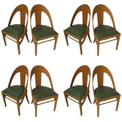 Mid-Century Modern Bent Maple Spoon Back Cafe Dining Chairs 14 Available