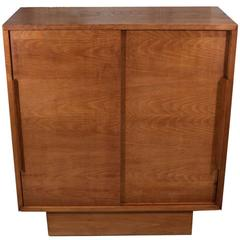 French Oak and Elm Cabinet, France, circa 1945