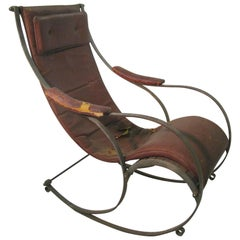 19th Century Campaign Rocking Chair R.W. Winfield