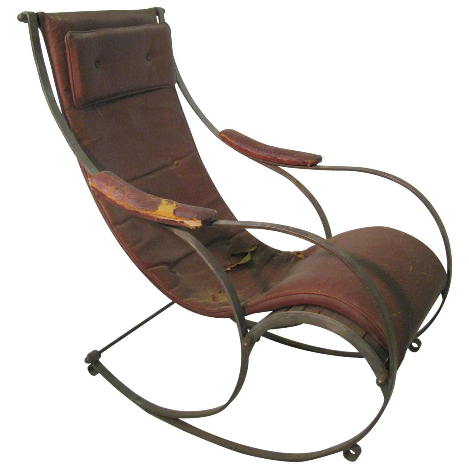 Victorian rocking chair - 19th Century Campaign Rocking Chair R W Winfield